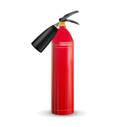 Red fire extinguisher metal red fire vector