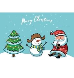 Santa Claus Christmas card vector