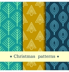 Seamless pattern for winter and christmas theme vector image