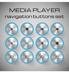set media control buttons vector image