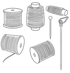 set of sewing accessories vector image