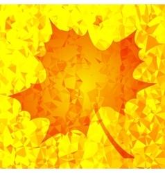 Single Orange Mosaic Autumn Leaf vector