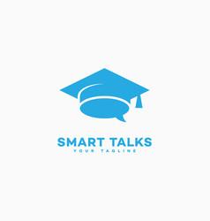 smart talks logo vector image