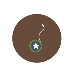 Stylish icon in color circle yo yo toy vector