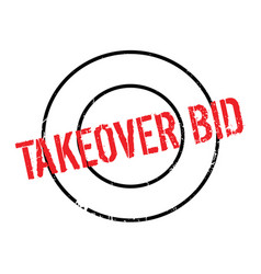 Takeover bid rubber stamp vector