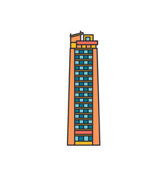 tower sky icon cartoon style vector image