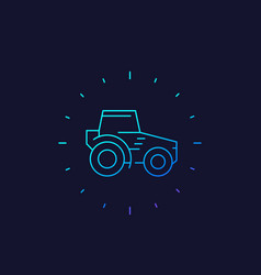 Tractor agrimotor linear icon vector