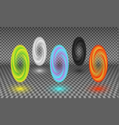 various color portals isolated vector image