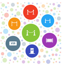 Vip icons vector