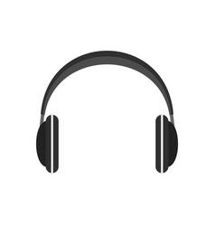wireless headphones icon flat style vector image