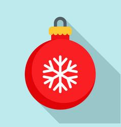 xmas tree ball icon flat style vector image