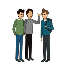 young adults having a conversation icon image vector image