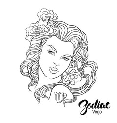 zodiac virgo as girl vector image