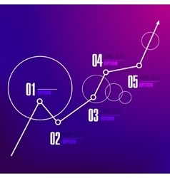 Abstract business infographic steps 1 2 3 4 5 vector