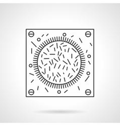 Bacteria icon flat line design icon vector image vector image