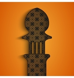Greetings background for holy month of muslim vector image