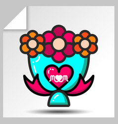 mothers day icons 4 vector image vector image