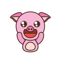 pig baby animal kawaii design vector image
