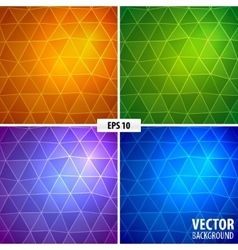 Set of 4 mosaic background vector image vector image