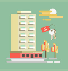 summer travel or holiday vacation hotel at vector image vector image