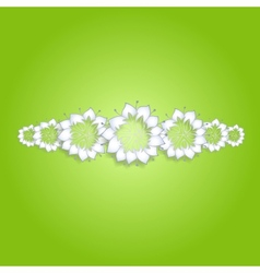 White flowers on green background vector image vector image