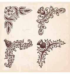 Corners Hand drawn vector image