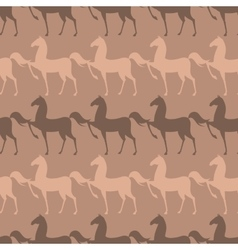 Colorful Seamless Pattern with Horse vector image vector image