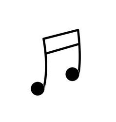 Contour musical note trhythm notation icon vector