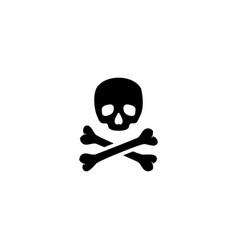 crossbones death skull flat icon vector image