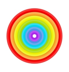 Rings painted in colors of the rainbow vector image vector image