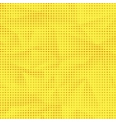 Set of Halftone Dots Dots on Yellow Background vector image