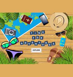 travel banner vector image