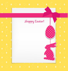 easter card and seamless pattern with eggs vector image vector image