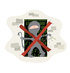 protection against unauthorized access vector image