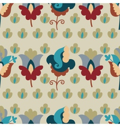 seamless pattern with repetitive flowers vector image vector image