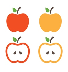 Set of apples concept template vector image