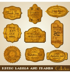 Set of grunge retro Labels and Frames vector image vector image
