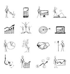 Sketch management process vector image