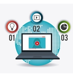 Technology internet and multimedia vector image