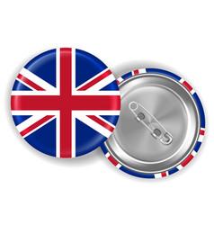 3d real england united kingdom flag brooch vector image