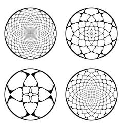 A set of design circle elements vector image