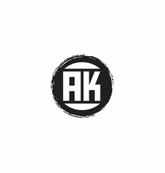 Ak logo initial letter monogram with abstract vector