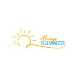 always summer logo vector image