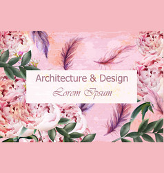 architecture and design creative card vector image