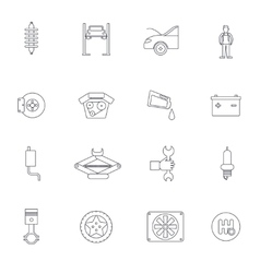 Auto Service Outline Icon vector image
