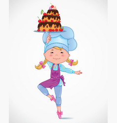 Bacook with cake vector