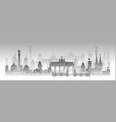 Berlin city gradient 8 vector