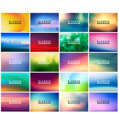 big set of 20 horizontal wide blurred nature vector image
