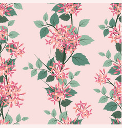 blooming flowers seamless pattern on pastel mood vector image