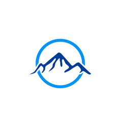 Blue mountain abstract logo vector